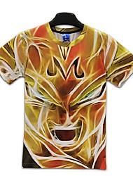3d футболки дракона мяч пожара сын Гоку Косплей костюмы футболки одежда вызывающим шею с коротким рукавом
