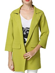 Manteau Aux femmes Manches ¾ Street Chic Polyester