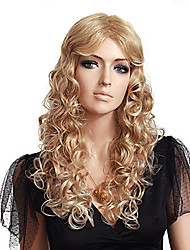 Women's Fashionable Blonde Color Long Length Curly Synthetic Wigs