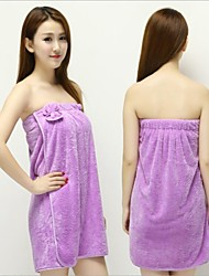 1PC New Women Lady Coral velvet Soft Bra Bow Bath Bathrobe Towel Skirt Dress