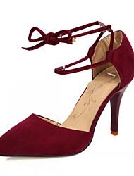 Mujer / Para Niña-Tacón Stiletto-TaconesOficina y Trabajo / Vestido / Fiesta y Noche-Semicuero-Negro / Amarillo / Rojo