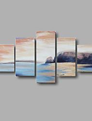 ручная роспись абстрактной мариниста стены искусства декора дома картины маслом на холсте 5pcs / комплект с натянутой рамы