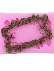 Lace frame Shaped Silicone Fondant Cake Cake Chocolate Silicone Molds,Decoration Tools Bakeware