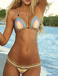 Bikinis Aux femmes Couleur Pleine Sans Armature Bandeau Polyester / Tricot