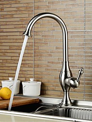 Contemporary Nickel Brushed Personalized Single Handle Kitchen Sink Faucet