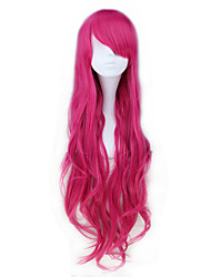 Long Wavy Pink and Light Green Synthetic Sweet Lolita Wig