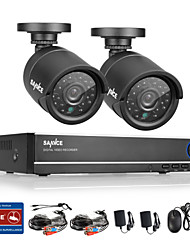 Sannce® 720P AHD 720P 4CH Vedio DVR Home Surveillance Security Camera System (Black)