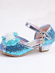 Girls Glass Slipper Princess Crystals Shoes Soft Bottom Dress shoes Leather Princess Shoes Performance shoes Sandals
