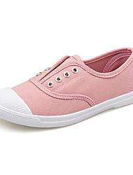 Синий Розовый Белый Серый-Женский-Для занятий спортом-Полотно-На плоской подошве-Удобная обувь