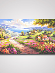 Stretched Landscape Painting Print Art for Office, Hotel and Livingroom Decoration 60x120cm Ready to Hang