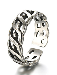 Unisex Vintage Pattern Punk Eye Antique Sterling Silver Ring Band Rings Daily / Casual 1pc
