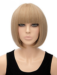 Fashion Natural Blonde Color BOBO Straight Wigs Synthetic Wig