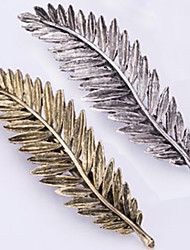 New Retro Metal Feather Hair Clips Han Edition Spring Clip Bang Clip 2 PCS