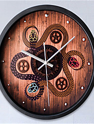 The Ancient 3 Snake Stereo Wall Clock Gear