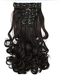 noir longueur 60cm perruque synthétique Vente en Gros boucles (couleur 2/33)