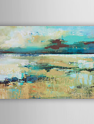 Hand Painted Oil Painting Landscape Abstract Blue Lake with Stretched Frame 7 Wall Arts®