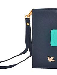 rétro cas oiseau flip en cuir pour iphone 6 / 6s / 6plus / 6splus portefeuille titulaire de la carte de support avec