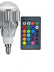 10W E14 Ampoules Globe LED A50 1 LED Haute Puissance 600-800 lm RVB Commandée à Distance AC 85-265 V 1 pièce
