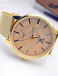 Women's Fashion Watch Casual Watch Quartz Stainless Steel Band Gold