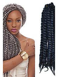 12-24 polegadas crochet trança havana mambo afro torção cabelo extensão preto cinza