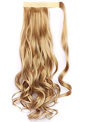 dourado comprimento 45 centímetros a nova velcro peruca de rabo de cavalo (cor 25)