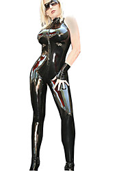 Women's  Sleeveless PVC Cosplay Costume Catsuit Punk Party Fancy Dress