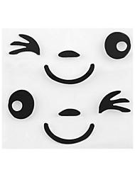 ziqiao mar nouveau sourire d'arrivée dessin de la face 3d décoration autocollant pour voiture côté rétroviseur
