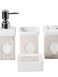 cerâmica tetragonum casa de banho de quatro terno peça (padrão aleatório)
