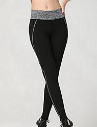 Damen Laufhosen Atmungsaktiv Weich Videokompression Sanft Leggins Unten für Übung & Fitness Laufen Grau S M L XL