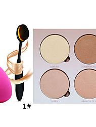 4 Palette de Fard à Paupières Sec Fard à paupières palette Poudre Normal Maquillage Quotidien