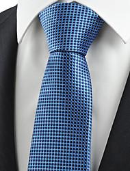KissTies Men's Necktie Blue Polka Dots Wedding/Business/Work/Formal/Casual Tie With Gift Box
