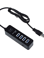 USB 3.0 4 portas / interface USB hub com interruptor separado 11 * 3 * 3