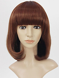 Top Quality Short Brown Wavy High Quality Synthetic Wigs