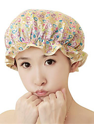 Beautiful Printed Satin Fabric Woman Shower Caps (Random color)