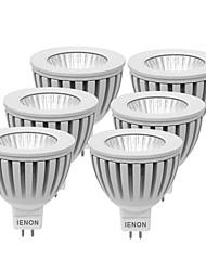 3W GU5.3(MR16) Lâmpadas de Foco de LED MR16 1 COB 240-270 lm Branco Quente / Branco Frio Decorativa DC 12 / AC 12 V 6 pçs