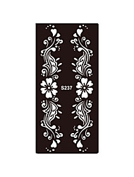 1pc Temporary Henna Heart Flower Stencil Body Art Tattoo Bracelet Jewelry Airbrush Printing Template Sticker S237