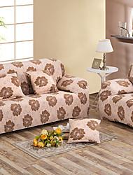 Printed Tight All-inclusive Sofa Towel Slipcover Slip-resistant Fabric Elastic Sofa Cover  Coffee/pink