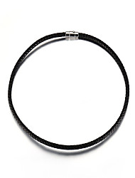Men's Women's Chain Necklaces Circle Leather Titanium Steel Fashion Jewelry For Daily Casual