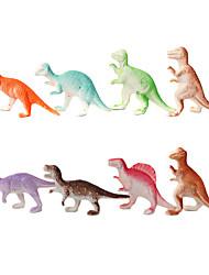 Kunststoff Miniatur-Dinosaurier 8 Laden / set Simulation von Kinderspielzeug geistigen Tierwelt Sand Tischmodell 2 Sätze