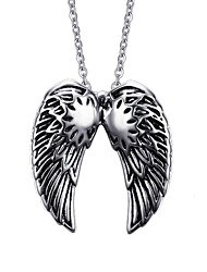 Men's Pendant Necklaces Pendants Titanium Steel Feather Punk Fashion Silver Jewelry Daily Casual 1pc