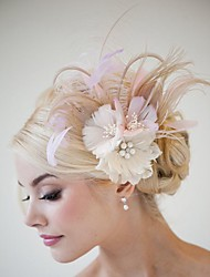 2016 Women Fashion New Fascinator  Hair Jelwery Feather Hair Accessories  Pins Hand Made