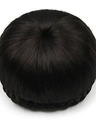 verworrene lockige schwarze Perücken Menschenhaarspitze Chignons 2/33