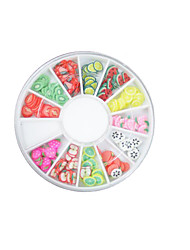 Fruit / Lovely Finger Nail Jewelry / Decoration/Decorations Plastic 12 models /box Jewelry diameter of about 0.2cm