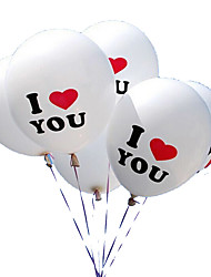 100pcs/Lot 12 inch I LOVE YOU Pearl Latex Balloons Globos Ballons For Christmas Wedding Decorations