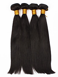 "Slove Hair Unprocessed Hair Products Peruvian Virgin Hair Straight 4Pcs Straight Hair  8""-30"" Human Hair Bundles"
