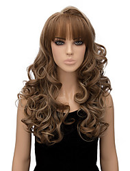 Capless Blonde Color Long Length High Quality Natural Wave Synthetic Wig