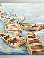 ручная роспись маслом пейзаж спокойный переход лодка с растянутыми кадр 7 стены arts®