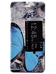 borboleta coldre tensão pintado pu tampa do telefone material de concha para o Huawei Ascend P9 / P9 Lite