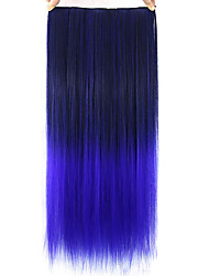 Straight Purple Colorful Human Hair Lace Wigs