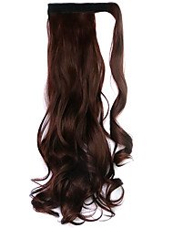 Wig Black Chocolate 45CM High-Temperature Wire Strap Style Long Hair Ponytail Colour 33J